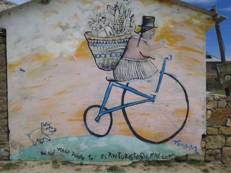 Bolivia - wall painting Isla del Sol